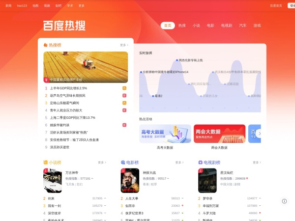 Screenshot of top.baidu.com