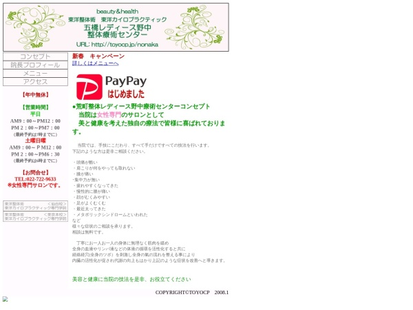 Screenshot of toyocp.jp