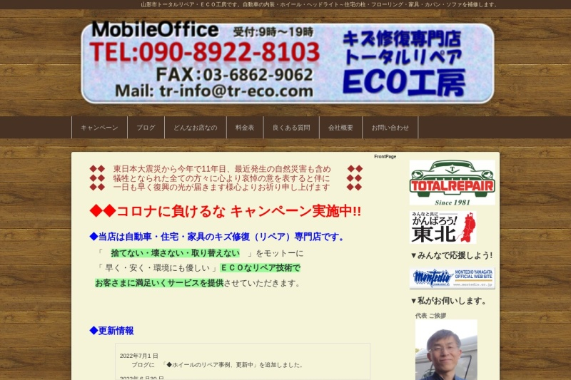 Screenshot of tr-eco.com