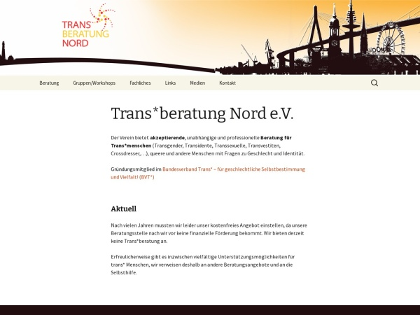 Screenshot of transberatung-nord.de