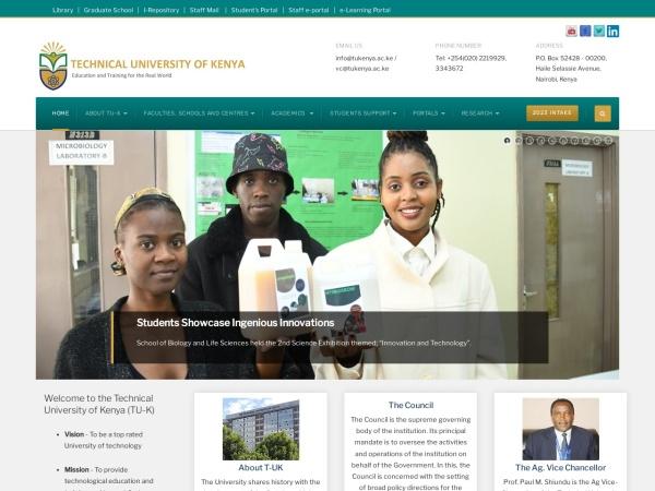 Screenshot of tukenya.ac.ke