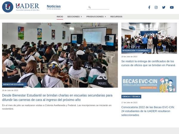 Screenshot of uader.edu.ar
