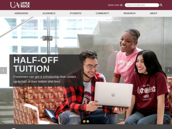 Screenshot of ualr.edu