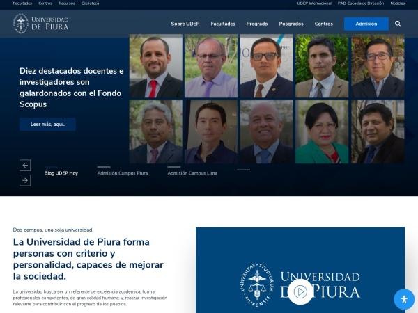 Screenshot of udep.edu.pe