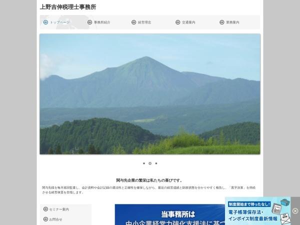 Screenshot of uenokaikei.tkcnf.com