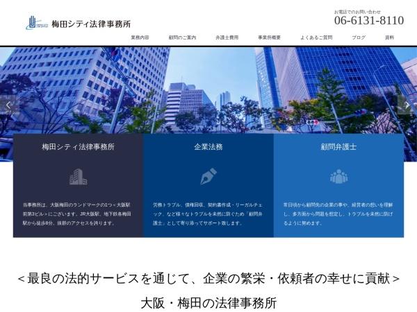 Screenshot of umedacity-law.jp