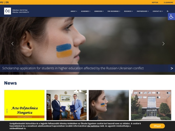 Screenshot of uni-obuda.hu