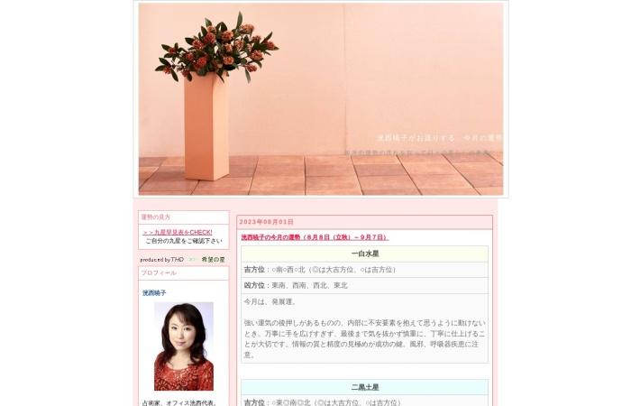 Screenshot of unsei.thd-web.jp