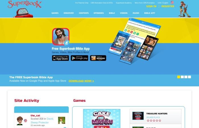 Screenshot of us-en.superbook.cbn.com