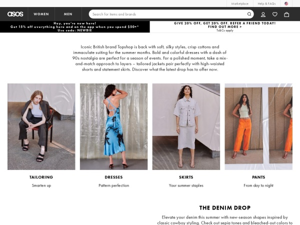Screenshot of us.topshop.com
