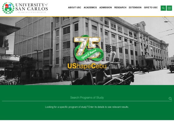 Screenshot of usc.edu.ph