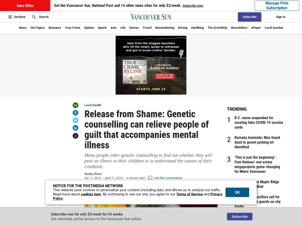 http://vancouversun.com/health/local-health/release-from-shame-genetic-counselling-can-relieve-people-of-guilt-that-accompanies-mental-illness