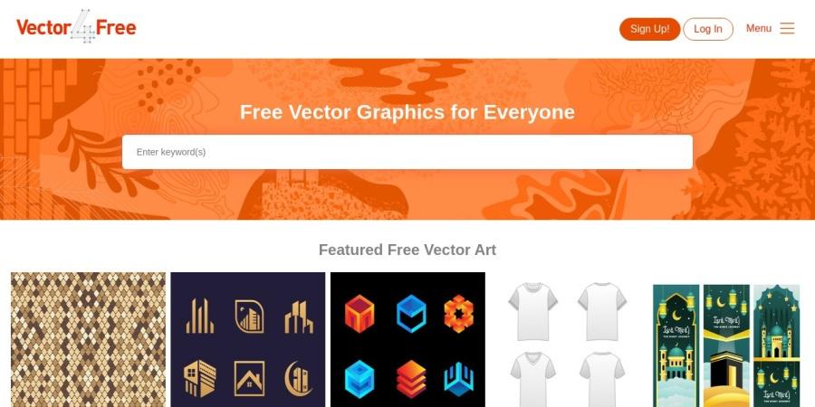 Screenshot of vector4free.com
