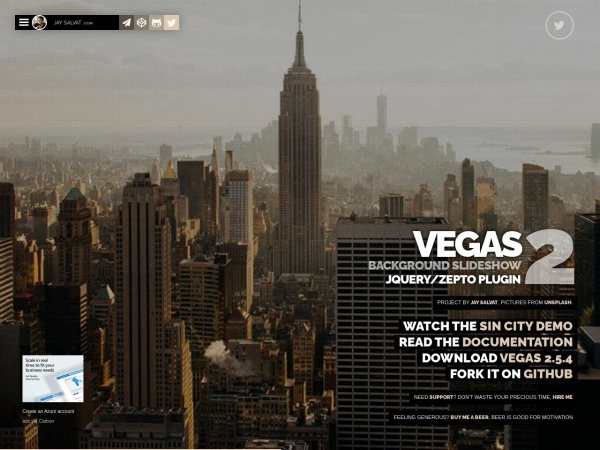 Screenshot of vegas.jaysalvat.com