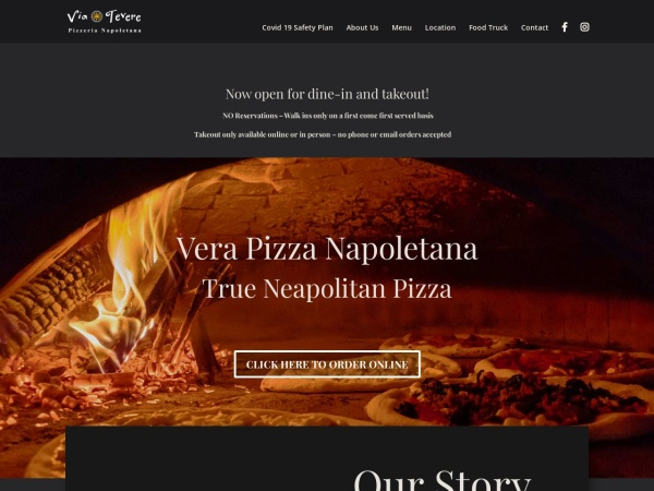 Screenshot of viateverepizzeria.com