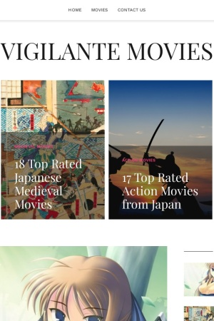 Screenshot of vigilante-movie.com