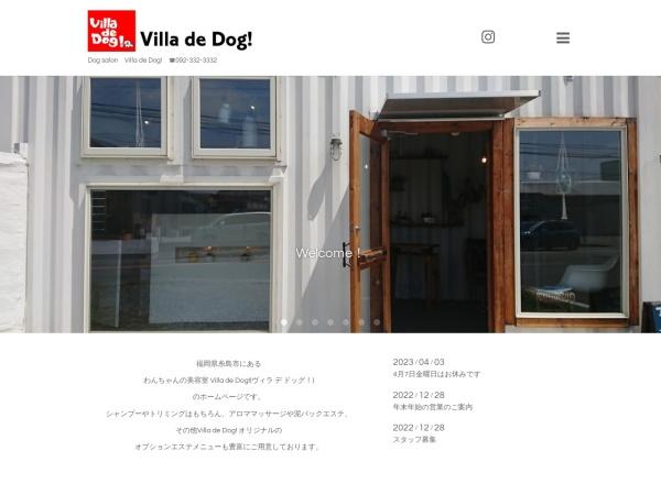 Screenshot of villa-de-dog.com