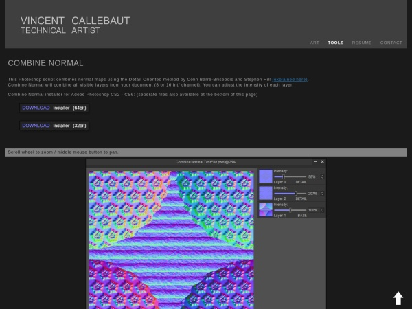 Screenshot of vincentcallebaut.com