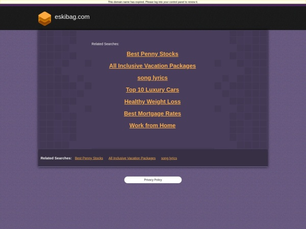 Screenshot of viranbagplaji.eskibag.com