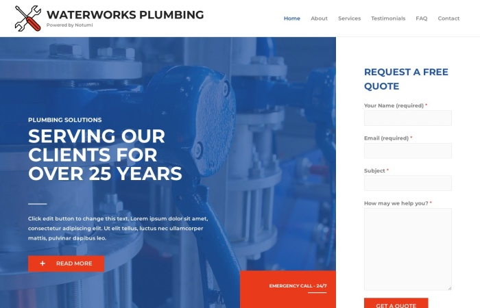 Screenshot of waterworks.notumi.com