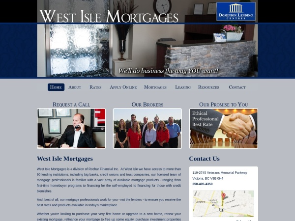 Screenshot of westislemortgages.com