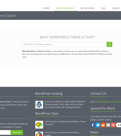 Screenshot of whatwpthemeisthat.com