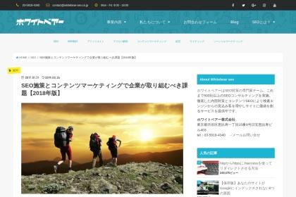 Screenshot of whitebear-seo.com