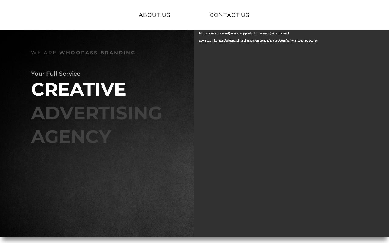 Screenshot of whoopassbranding.com