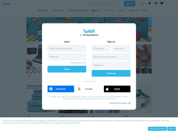 Review of wish