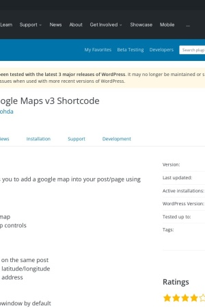 http://wordpress.org/extend/plugins/google-maps-v3-shortcode/