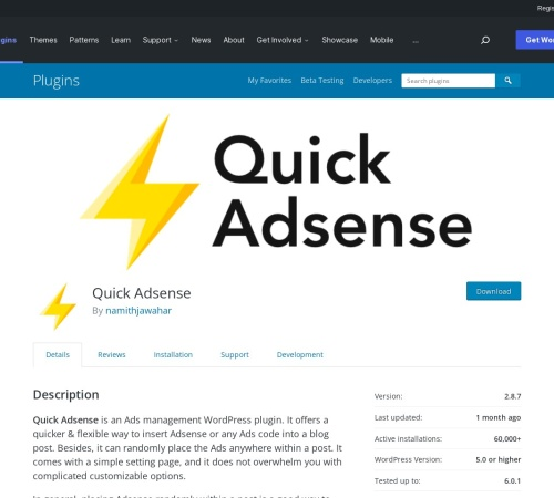 http://wordpress.org/extend/plugins/quick-adsense/