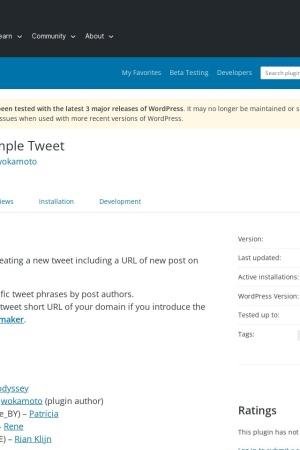 http://wordpress.org/extend/plugins/simple-tweet/