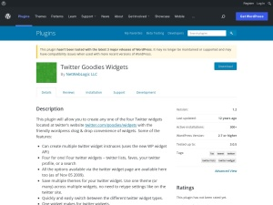 http://wordpress.org/extend/plugins/twitter-goodies-widgets/