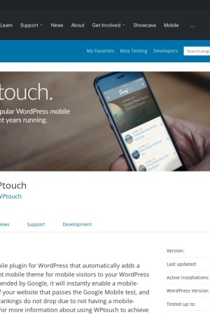 http://wordpress.org/extend/plugins/wptouch/