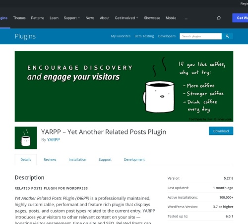 Screenshot of wordpress.org