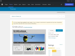 http://wordpress.org/extend/themes/Gridiculous