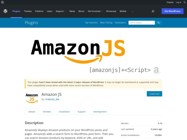 http://wordpress.org/plugins/amazonjs/