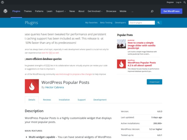http://wordpress.org/plugins/wordpress-popular-posts/