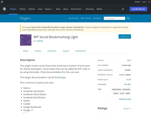 http://wordpress.org/plugins/wp-social-bookmarking-light/