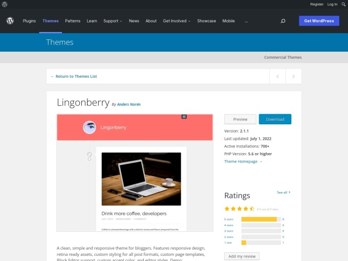 http://wordpress.org/themes/lingonberry