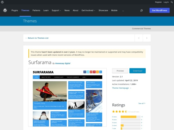 http://wordpress.org/themes/surfarama
