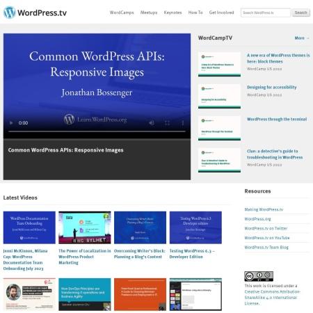 Screenshot of wordpress.tv