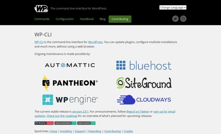 Screenshot of wp-cli.org