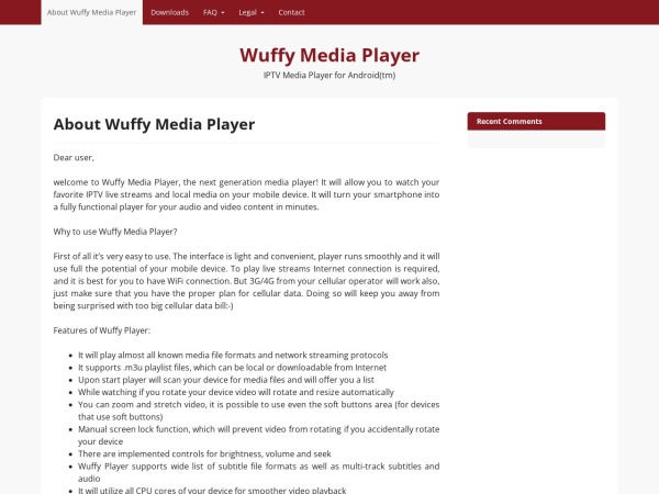 Screenshot of wuffy.co
