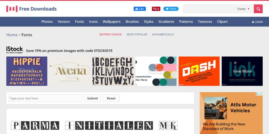 Screenshot of www.1001freedownloads.com