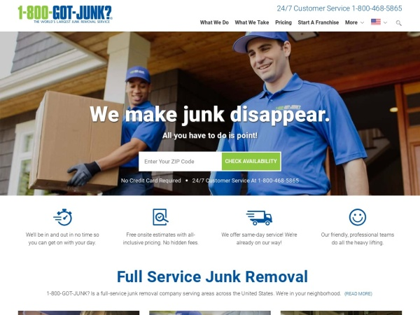 Screenshot of www.1800gotjunk.com