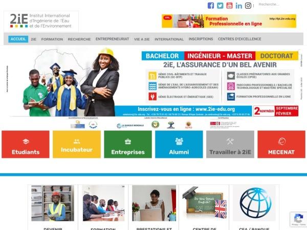 Screenshot of www.2ie-edu.org