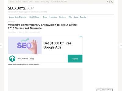 http://www.2luxury2.com/vaticans-contemporary-art-pavilion-to-debut-at-the-2013-venice-art-biennale/