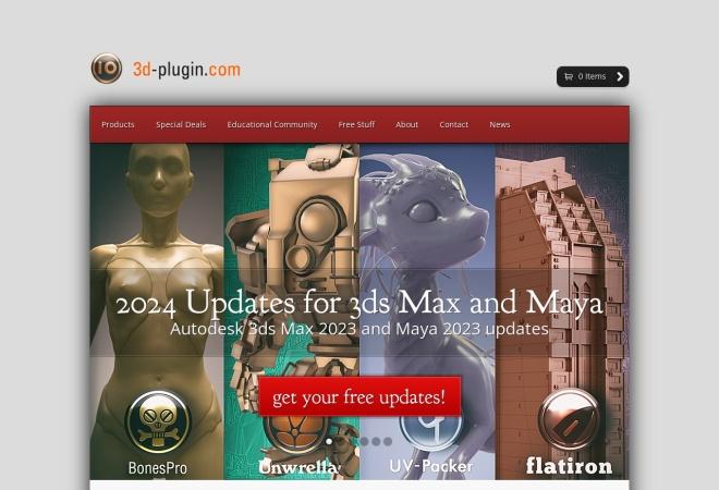 Screenshot of www.3d-plugin.com