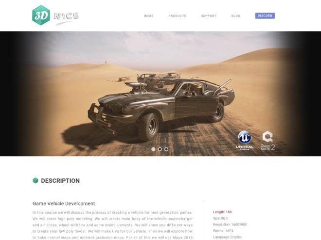 http://www.3dnice.net/game_vehicle_dev.html